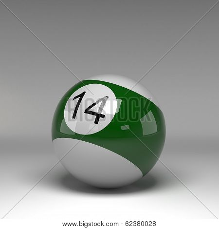 3d rendering Billiard ball isolated on grey