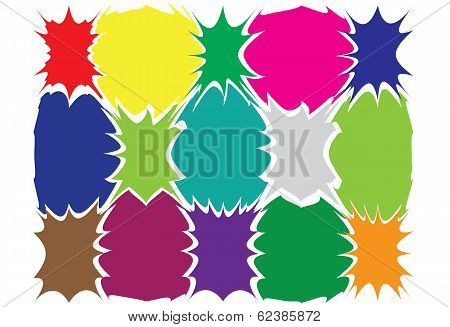 Colored blots EPS10 vector picture