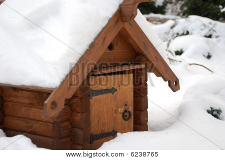 Little house in the winter