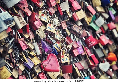 Love Padlocks In Cologne