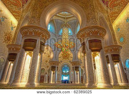 Interior of Shiekh Zayed Mosque, Abudhabi