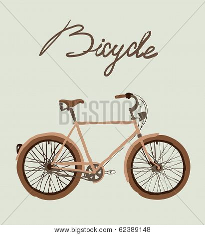 Vintage bicycle. Vector illustration.