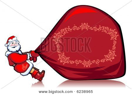 very heavy bag with gifts
