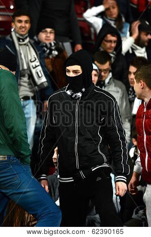 Football Hooligans In A Stadium