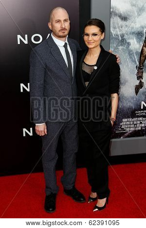 NEW YORK-MAR 26: Director Darren Aronofsky and Brandi Ann Milbradt attend the premiere of