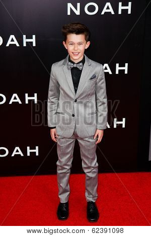 NEW YORK-MAR 26: Actor Nolan Cross attends the premiere of