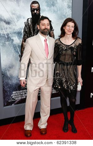 NEW YORK-MAR 26: Executive producer and co-screenwriter Ari Handel (L) and guest attend the premiere of