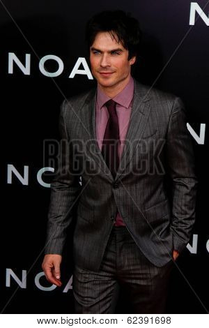 NEW YORK-MAR 26: Actor Ian Somerhalder attends the premiere of
