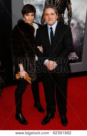 NEW YORK-MAR 26: Chairman and CEO of Paramount Pictures Brad Grey (R) and wife Cassandra Huysentuyt attend the premiere of