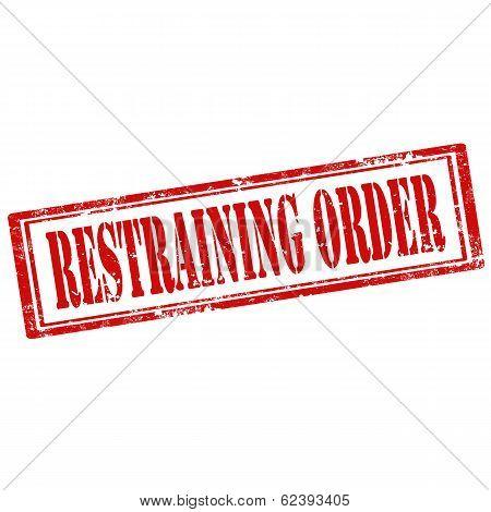 Restraining Order-stamp