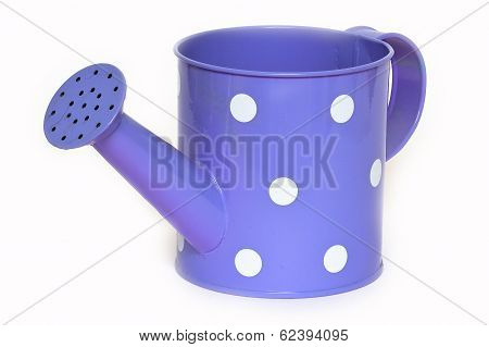 The tin watering can.