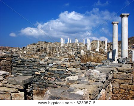 Columns In Delos,greece