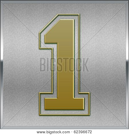 Gold On Silver Number 1 Position, Place Sign