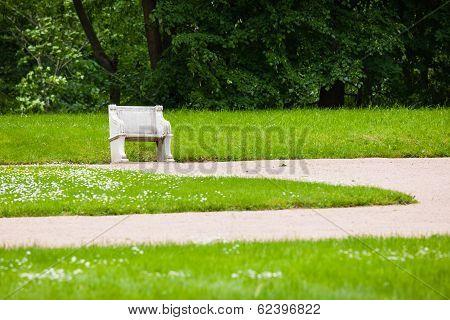 Palace garden bench