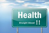stock photo of personal hygiene  - Highway Signpost Image with Health related wording - JPG