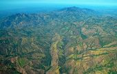 picture of deforestation  - Aerial Costa Rica, Showing Mountains and Deforestation impact