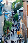 QUEBEC CITY, CANADA - SEP 10: Old street in the day on September 10, 2012 in Quebec City, Canada. As
