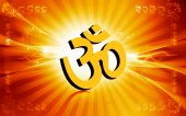 foto of pooja  - Illustration of Om in colouful   frames with god - JPG