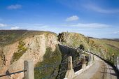 stock photo of sark  - La Coupee on Sark channel islands uk
