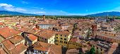 Panoramic View Beautiful Italian Town Luca