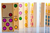 Children's Wooden Dominoes With Colored Dots