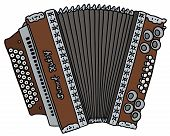 stock photo of accordion  - hand drawing of a vintage accordion  - JPG