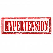 stock photo of hypertensive  - Grunge rubber stamp with text Hypertension - JPG