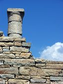 picture of phallus  - Architecture and details of historic city Delos near Mykonos Greece - JPG