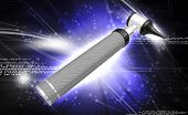 image of otoscope  - Digital illustration of otoscope in white background - JPG