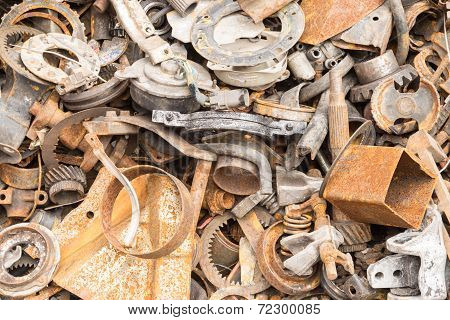 Scrap Iron Unused, Rubble, Remnant Of Iron