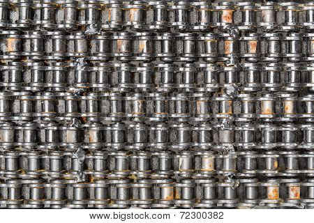 Chain For Motor Bike And Bicycle Background
