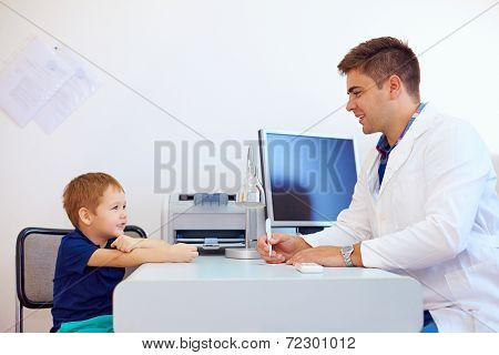 Boy At The Pediatrician Doctor, Psychologist