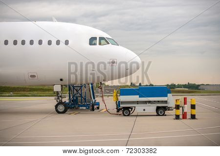 White cargo plane at airport