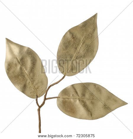 Christmas Decorative Golden Leaves