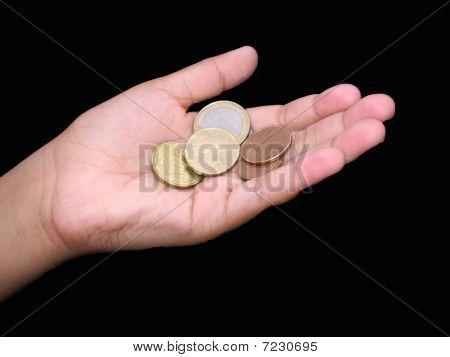 holding euros