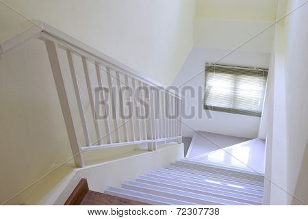 Staircase Interior At White Home