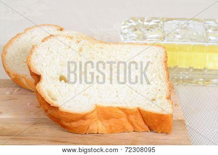 fresh cut white bread