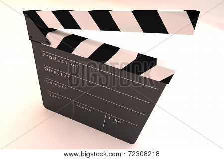 Film Slate Clapper 3D render