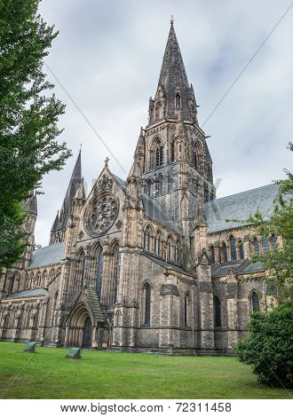 Wide angle view of St Mary's Episcopal Cathedral, Edinburgh