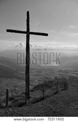 Summit Cross On The Rigi