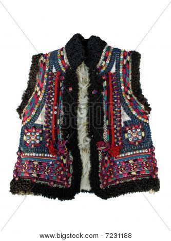 Ethnic slavic (ukrainian) winter dress