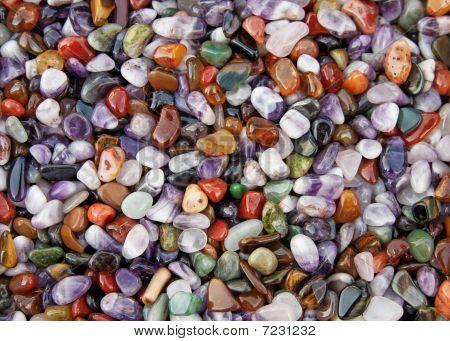 Multicolored stones texture