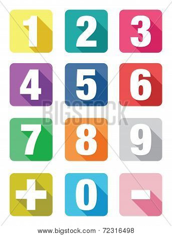 number flat icon sets