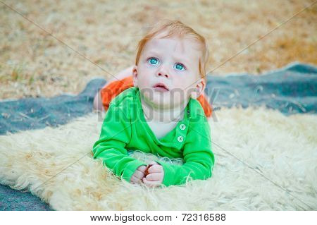Portrait Of Startled Baby