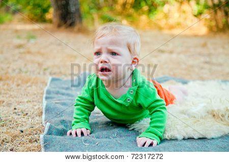 Baby Boy Bawling