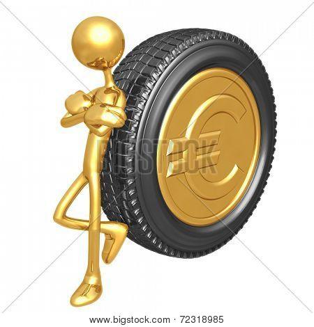 Gold Euro Coin Tire
