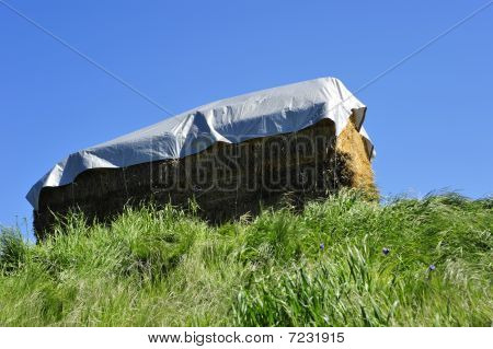 A haystack on a California ranch, Sierra Nevada Mountains