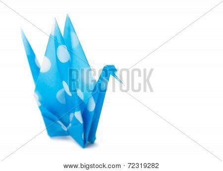 Cyan Origami Crane