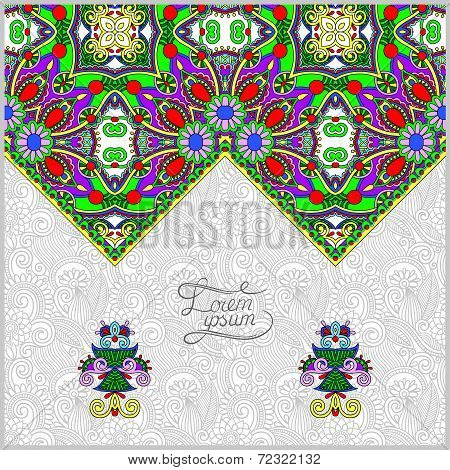 oriental decorative template for greeting card or wedding  invit