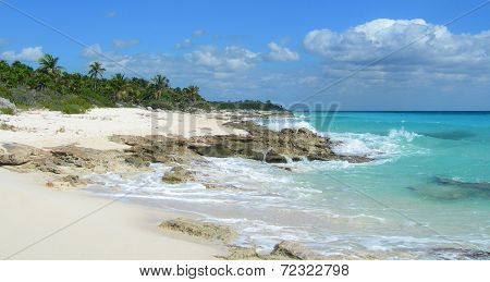Caribbean beach in Cancun, Mexico